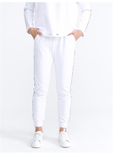 Xint XINT Pamuklu Rahat Kesim Sweat Pantolon Beyaz